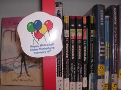 Author birthday balloons
